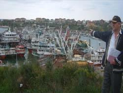 Kefken Limanı korkulu anlar yaşadı
