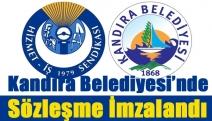 Kandıra Belediyesi'nde sözleşme imzalandı