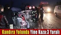 Kandıra Yolu Yine Kaza:3 Yaralı