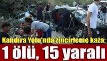 Kandıra Yolu'nda zincirleme kaza: 1 ölü, 15 yaralı