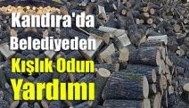 Kandıra'da belediyeden kışlık odun yardımı