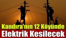 Kandıra'nın 12 köyünde elektrik kesilecek